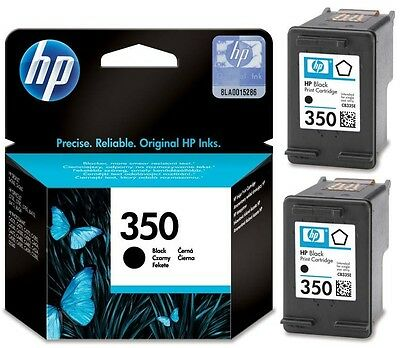 HP 350 Black CB335E Double Pack Refilled ink Cartridges Remanufactured Inkjet