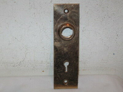 Antique Solid Victorian Bronze Door Knob Backplate Marked #0525 Pat Appl For VFC
