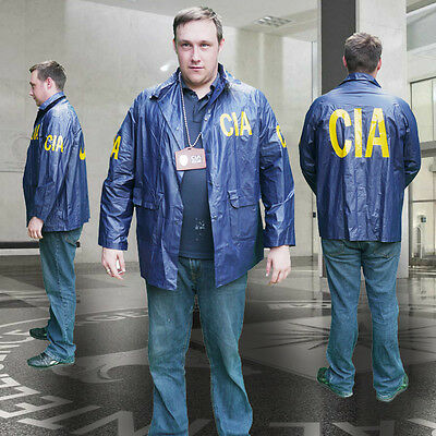 CIA Central Intelligence Agency SPECIAL AGENT JACKET + ID Lanyard - Fancy Dress!