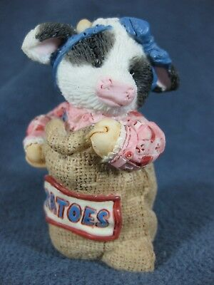 Marys Moo Moos Winning By Country Mile 125636 Cow Figurine Mary Rhyner 1994 BX