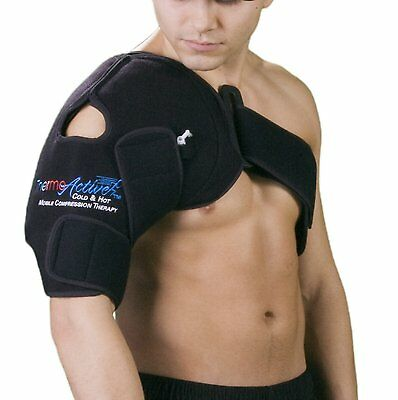 ThermoActive Cold/Hot Therapy Shoulder Support Wrap Choose: Left or Right