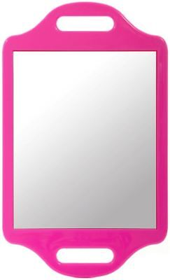 Matty Bond Street Hairdressing Beauty Salon Mirror with Twin Handle, Pink