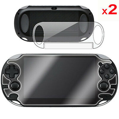 2 x FULL BODY Front & Back CLEAR Screen Protectors for Sony Playstation PS VITA