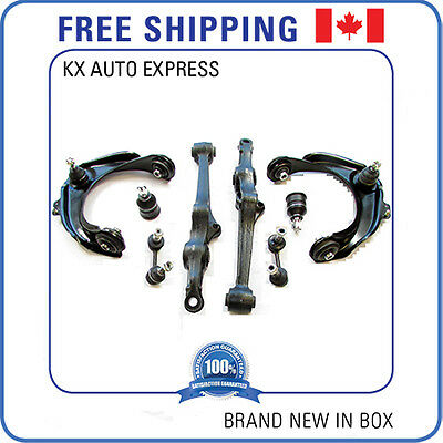 8 PIECES FRONT SUSPENSION SET CONTROL ARM BALL JOINT ASSEMBLY SWAY BAR LINK KIT