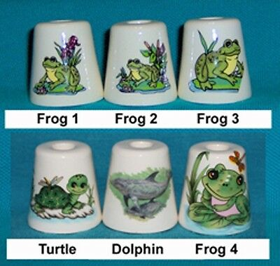 3 Frog Dolphin Ceramic Cigarette Snuffers 180 Designs