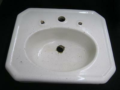 Antique Earthenware Sink Porcelain Glaze Bathroom Old Vintage Rest Room #2658-13