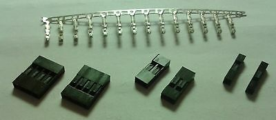 Jumper Connectors & Pins 1, 2, 4 to 40 way 2.54mm 3D Printer Female Dupont Plugs