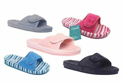 Ladies Slippers Grosby or Bliss Summer Slipper Scuffs Adjustable S-XL 6 colours