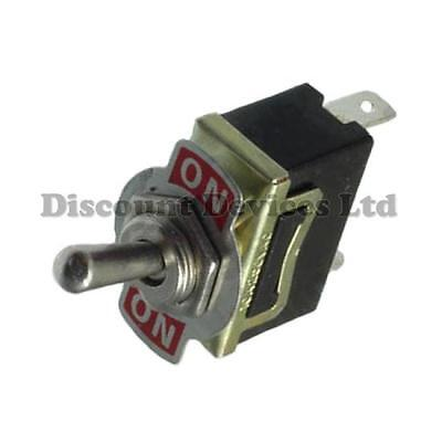 SPDT Toggle Switch on-on 10A 250V AC 1 Circuit 6.3mm Spade Terminal Metal Lever