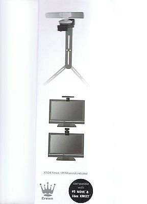QUALITY CROWN Kinect ps3 Move Camera Stand clip bracket xbox 360 tv mount tripod