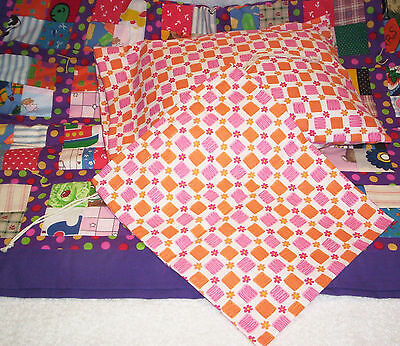 American Girl Clothes - American Doll Quilt Set - Bright Colors - Handmade in US