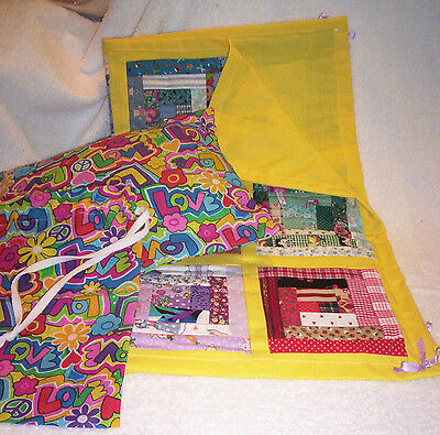 American Girl Clothes - American Doll Quilt Set -Bright Colors- Handmade in US