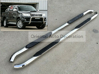3'' Stainless steel Side Steps/BAR Running Board For Toyota Hilux Dual Cab 05-15