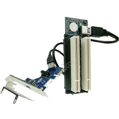 PCI-e x1 to 2 PCI Slots Adapter PCI Express x4 x8 x16 graphics card sound card