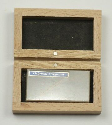 ARKANSAS HARD OIL STONE sharpening tools boxed watchmakers engineers oilstone