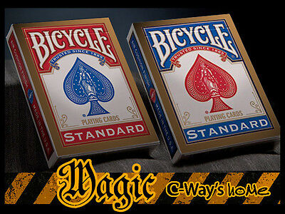 X002 New Version Of 2 Standard Bicycle Decks Poker Playing Cards (Blue+Red)