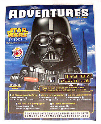 STAR WARS - Collectible Burger King Adventures Magazine Volume 16 Issue 05 MINT