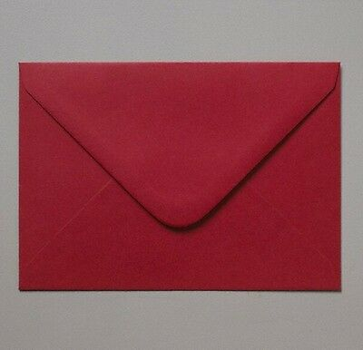50 Red Mini Envelopes 62 x 94mm - Ideal for Weddings