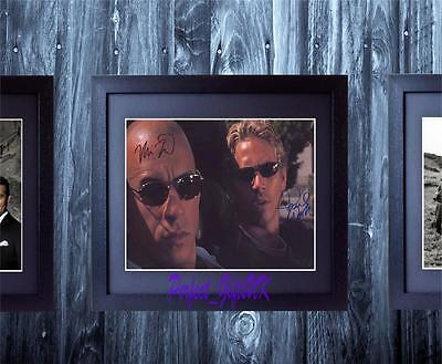 Paul Walker Vin Diesel Fast And Furious SIGNED FRAMED 10x8 REPRO PHOTO PRINT