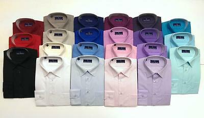 Mens Rael Brook Long Sleeve Shirt 28 Colours Work Formal Business Casual BNWT