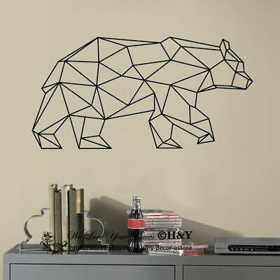 Geometry Bear Wall Art Stickers Removable Decal Home Kids Decor Mural Gift DIY