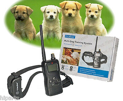 USA Waterproof Remote Dog  Shock TWO Training Collar Rechargeable for 16-120LB