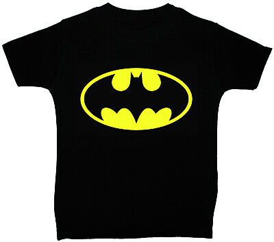 Batman Baby/Children T-Shirt/Top Black NB to 5y Acce Gift Boy Girl Superhero