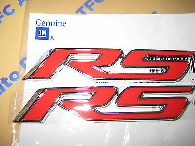 GENUINE GM Camaro RS Emblem logo Red GM# 92228473  2010-13 Chevy