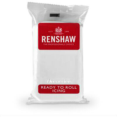 Renshaw Icing WHITE 1Kg Ready to Roll Fondant Sugarpaste for Cake Decorating