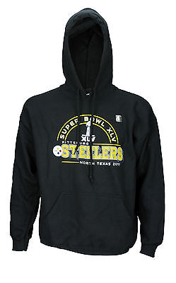 Reebok Mens NFL Pittsburgh Steelers Super Bowl XLV 2011 Hoodie Hooded Sweatshirt