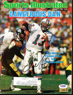 Dan Marino Signed Sports Illustrated 1985 Autographed Dolphins PSA/DNA V50250