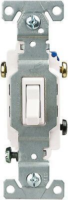 New Cooper Wiring Devices 1303-7W-SP-L 15-Amp, 120v 3-Way Toggle Switch, White