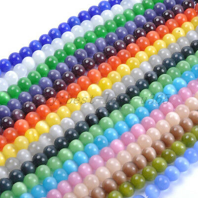 16 Color-1 Or Mixed CAT EYE Gemstone Round Loose BEADS 4MM,6MM,8MM,10MM,12MM