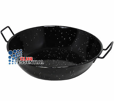 Superb Heavy Duty Enamel Cooking Pan Food Dish Kadai Karai Wok + Double Handle