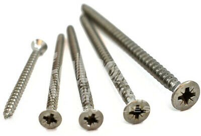10g & 12g A2 STAINLESS STEEL WOOD SCREW POZI COUNTERSUNK  - WOODSCREW - SCREWS