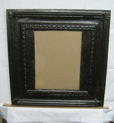 Antique TIN CEILING Metal 11x14 RUST Picture Frame Recycled  2683-13