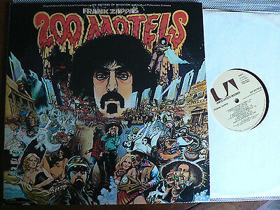 RARE FRANK ZAPPA / MOTHERS on UNITED ARTISTS lb 200 MOTELS 1971 US w/POSTER BKLT