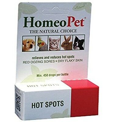 HomeoPet HOT SPOT Homeopathic Rash Flaky Skin Eczema Relief Dogs Cats 15ml