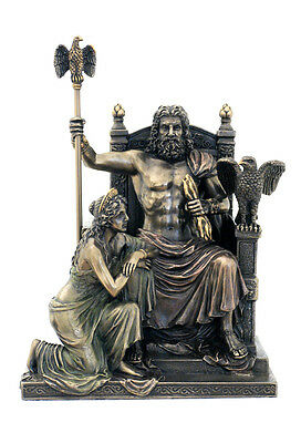 Zeus And Hera At The Throne Sculpture - Greek Mythology !