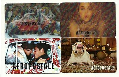 Lot of (4) Aeropostale Gift Cards No $ Value Collectible with Lenticular Holiday