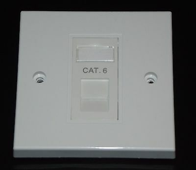 Cat6 RJ45 Single Face Plate (Network Ethernet data Wall socket / FacePlate)
