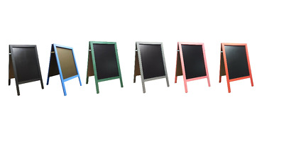 Large-Chalkboard-Blackboard-Pavement Board=10Kg Choice Of Vibrant Colours - New