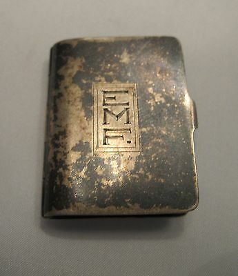 Antique Book Shaped Snuff Box Sterling Silver