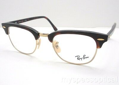 Ray Ban 5154 2372 49 Clubmaster Havana Eyeglass Frame New 100% Authentic