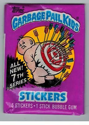 RARE GARBAGE PAIL KIDS SERIES 7 UNOPENED PACK STICKERS NO 25 CENTS WRAPPER