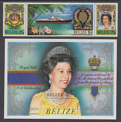 Belize Sc 782/850 MNH. 1985 Royal Visit + 1986 Birds & Fungi, 2 cplt sets