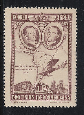 Spain Sc C55a MNH. 1930 1p brown violet Air Post, almost VF