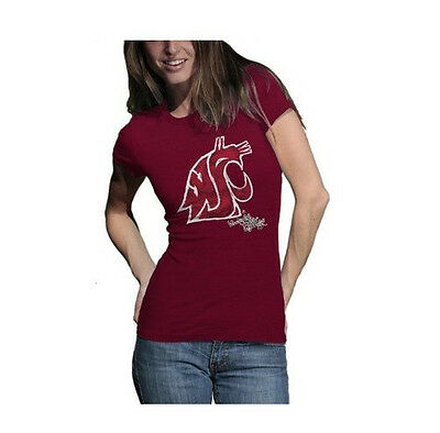 NCAA by Outerstuff NCAA Washington State Cougars Youth Girls Fan-Tastic Short Sleeve Tee Dark Red Youth Large 14
