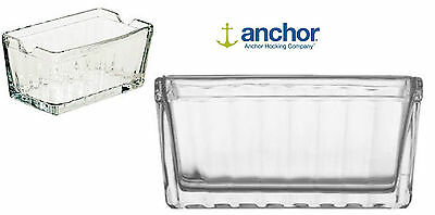 Anchor Hocking 86238 Glass Sugar Salt Pepper Packet Holder Container Ash Tray