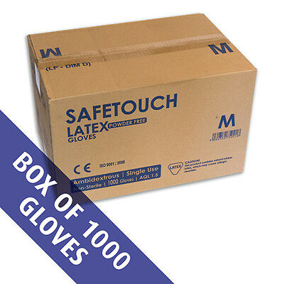 Case of 1000 Latex Powderfree Gloves Size EXTRA LARGE.